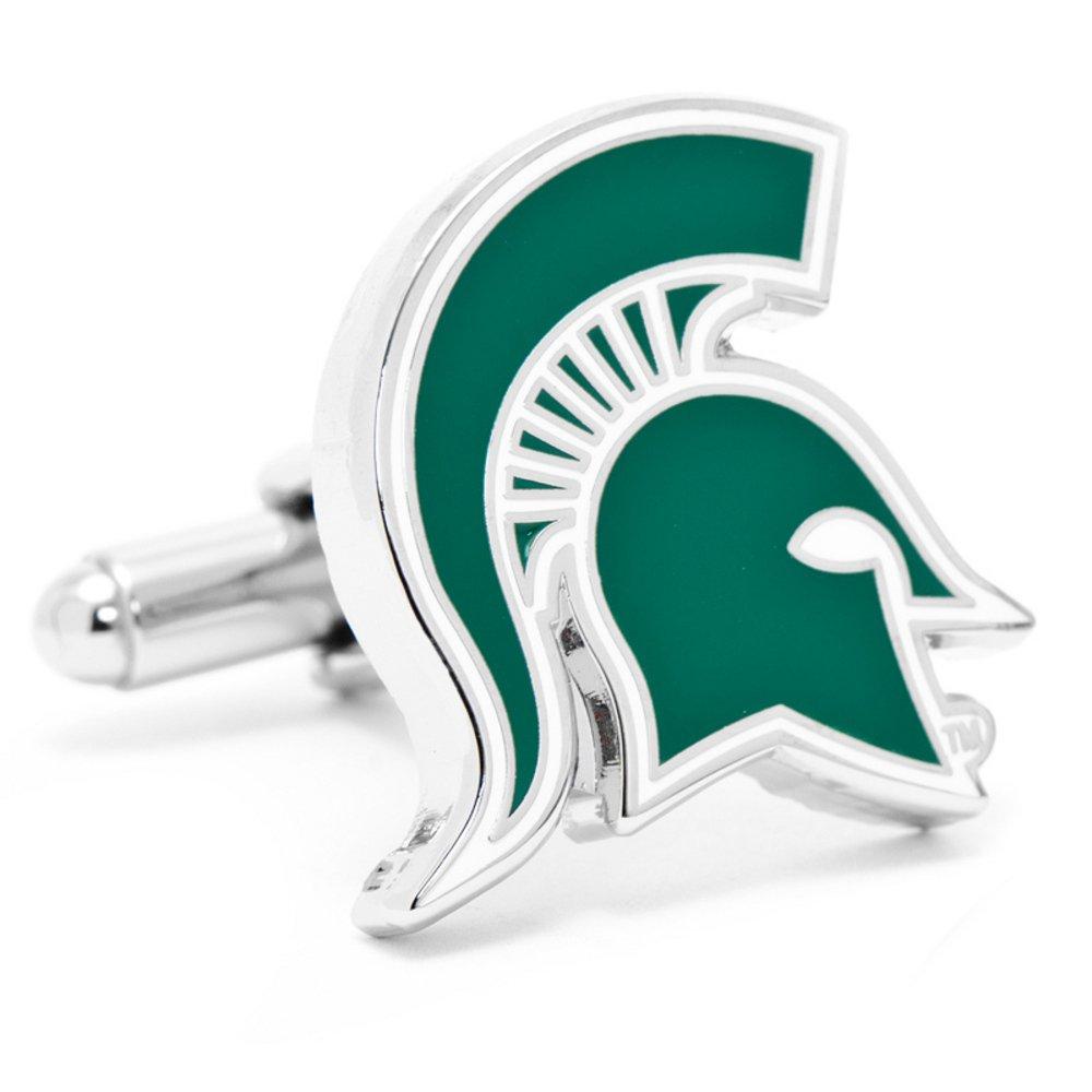 Silver Plated Michigan State Spartans Cufflinks