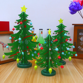 d54d079ac4cd Home Decorations Creative Artificial Wooden Mini Tabletop Christmas  Decorations Tree