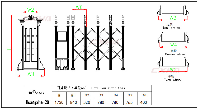 Factory Supply Automatic Retractable Gates
