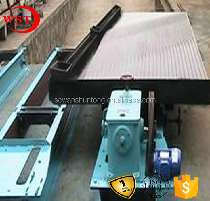 lead ore enviromental gravity concentrator, glass fiber big channel shaking table