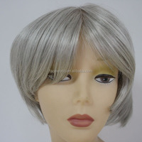 Faceworld human hair wig factory in Qingdao high quaity mixed grey wig