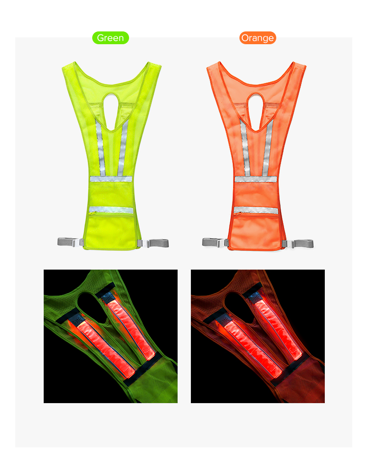 Amazing design for  high visibility vest safety wear as led running vest