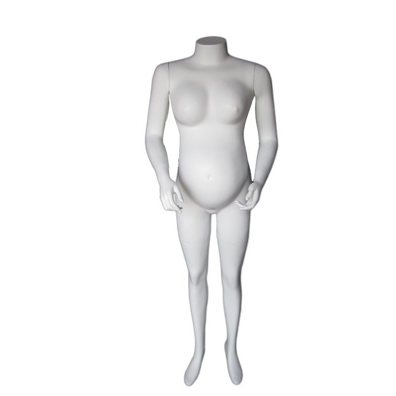 Full-body fiberglass pregnant mannequin torso without head PR-1