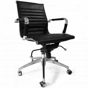 japanese style ergonomic italian medium back genuine leather leather small rolling conference manager relaxing office chair