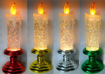 battery operated led glitter christmas candle - Led Christmas Candles