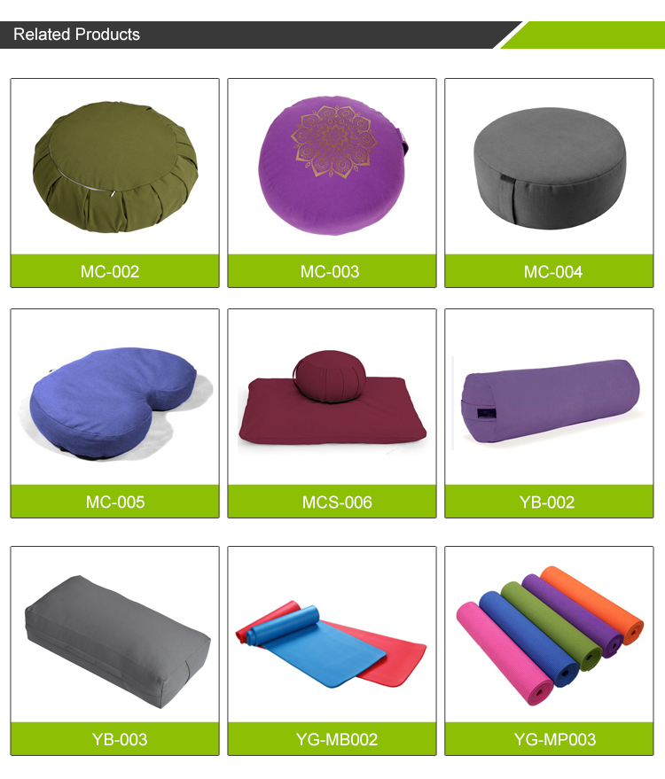 Buckwheat Round Portable Meditation Backrest Chair With