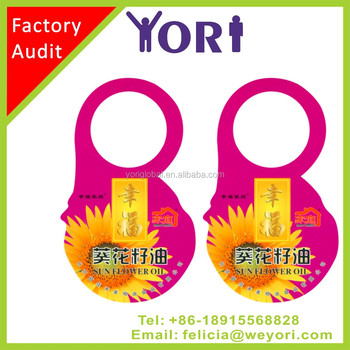 YORI good cutted fancy printed paper hang tag