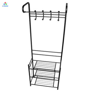 Practical Hallway Corner Storage Bench Shoe Rack Metal Coat Hat Hanger Stand With Hooks Buy Coat Stand With Shoe Rack Metal Hook Coat Stand Metal Coat Hanger Stand Product On Alibaba Com