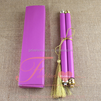 special purple scroll wedding invite card design marathi wedding