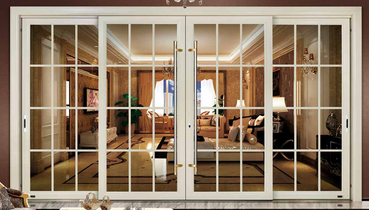 Powder coating soundproof french doors 3 panel sliding - Soundproof french doors exterior ...