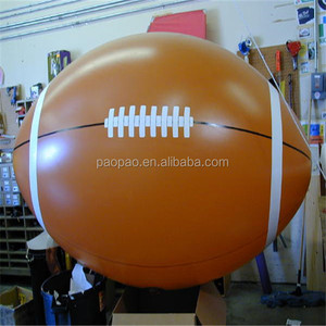 Customized Inflatable Floating Rugby Ball/Inflatable Flying Replica/Rugby Helium Balloon A2014