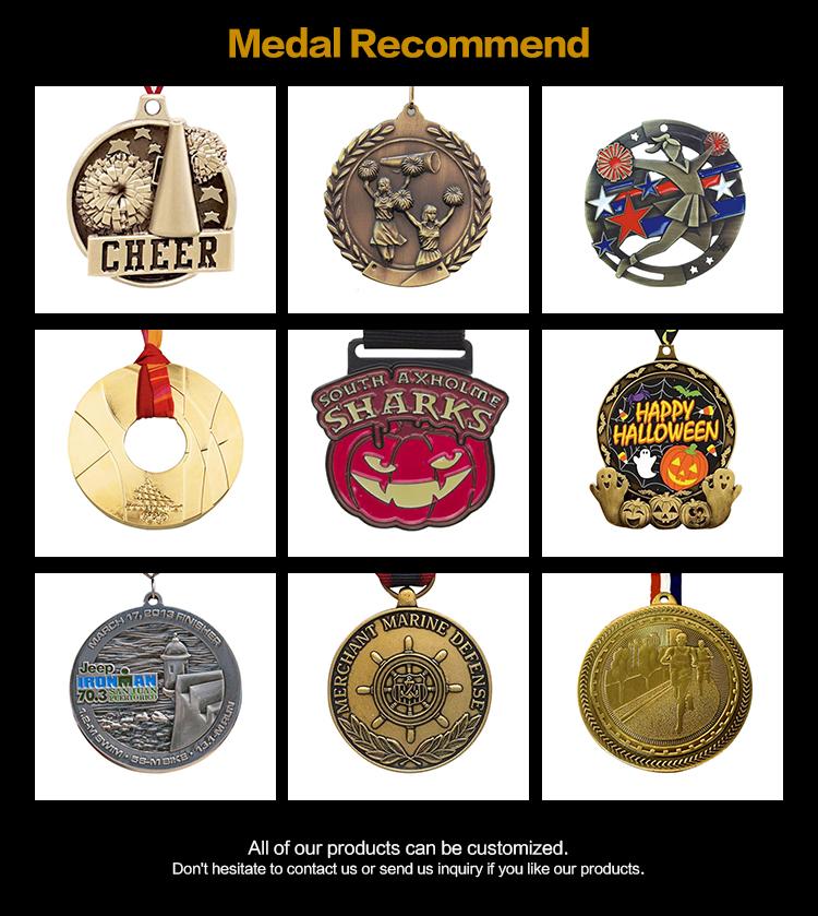 Kustom Tidak Ada Minimum Order Kosong Mount Gantung Medali dengan Printing Sticker