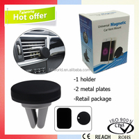 Universal Use magnetic mobile phone car holder auto air to cell plate mount
