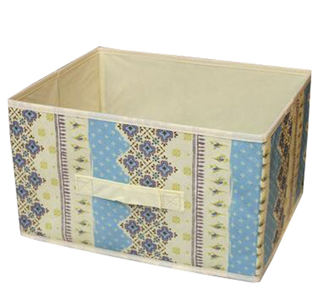 WEISHY Environment Odorless No Cover Storage Box Toys Underwear Storage Cabin (blue flowers)
