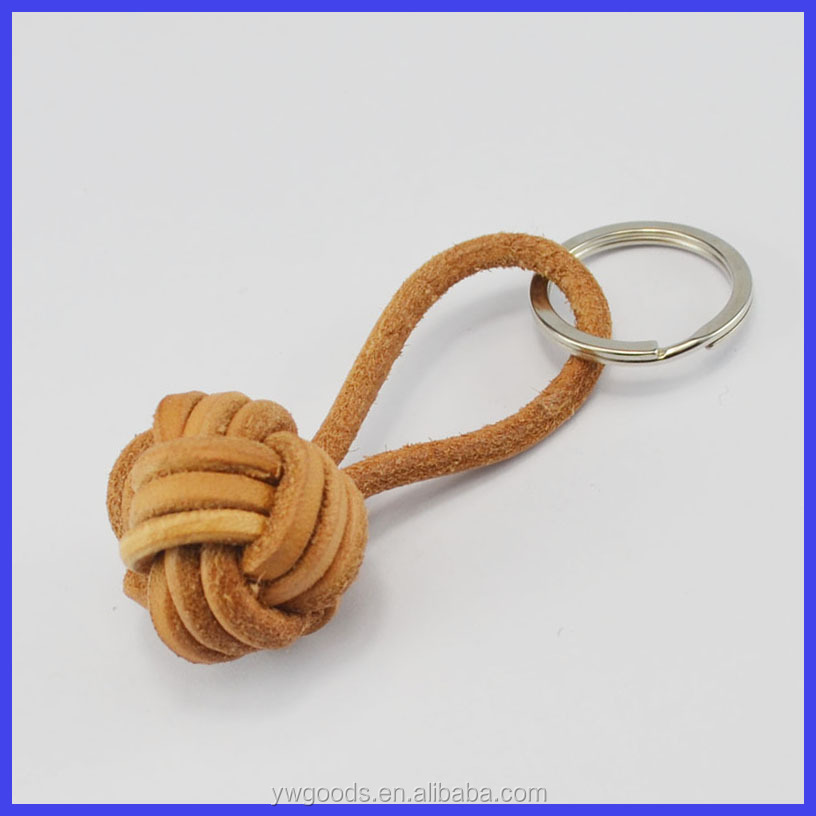 Monkey fist safety leather cord braided keychain detachable keychains 14f4ea9f9