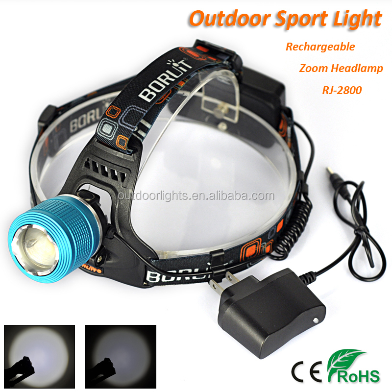 China Manufacturer Boruit 12W CREE T6 CE RoHS CERTIFICATE Headlight Rechargeable Colorful Led Coal Miner's Headlamp RJ-2800