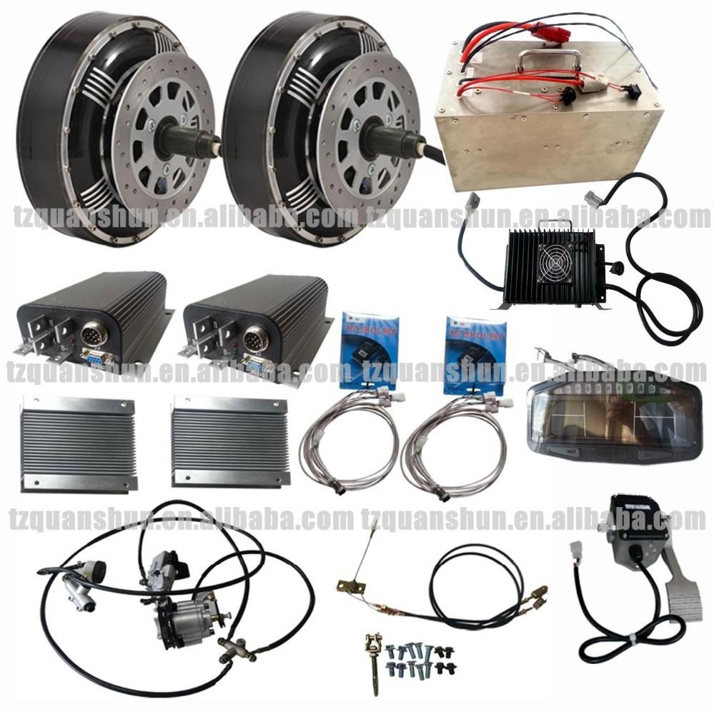 qs double 8kw 8 8 kw hub moteur lectrique hybride de voiture kit de conversion kits autres. Black Bedroom Furniture Sets. Home Design Ideas