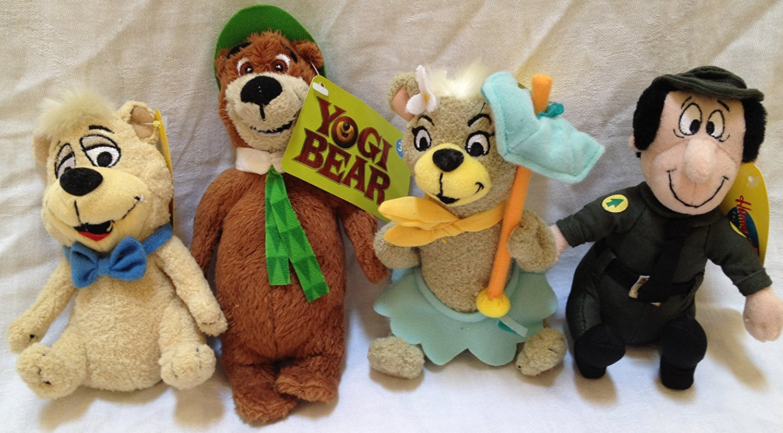 "Get Quotations · Retired Yogi Bear 6"" Plush Set of 4 with Yogi Bear, Boo Boo,"