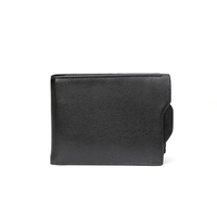 7701 - Best selling items wholesale black men leather wallet with many card holder