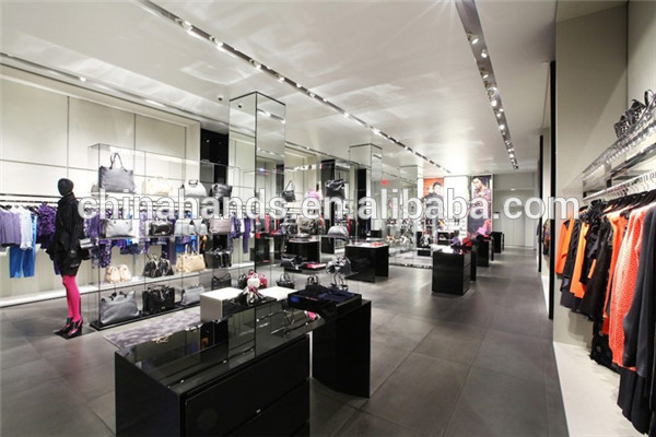 High End Garment Shop Display And Fitting Design