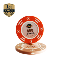 Custom Plastic 3D Laser Sticker Clay Composiet Poker Chip Coin Inlay