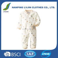 Baby Newborn Boys Stars Zip Front Footed Micro Fleece Coverall