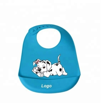 Customized Cartoon Kids Baby Silicone Bibs Simple Style Soft waterproof silicone bib