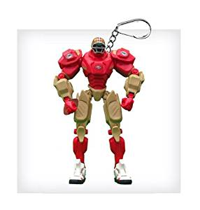 "San Francisco 49ers 3"" Team Cleatus FOX Robot NFL Football Key Chain Version 2.0"