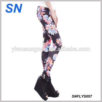 a630f445e YIWU market manufacture sublimate flower print pantyhose custom print  leggings sexy woman tights