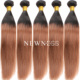 Wholesale dark red color human hair weaving straight brazilian virgin hair