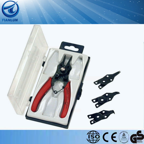 Snap Ring Plier Set With ON/Off Universal Kit Interchangeable Heads