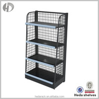 Black candy shop display racks sale for store with side fences