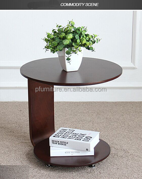 Modern Solid Ash Wood Coffee Table Night Stand Simple Side Table With  Wheels Movable