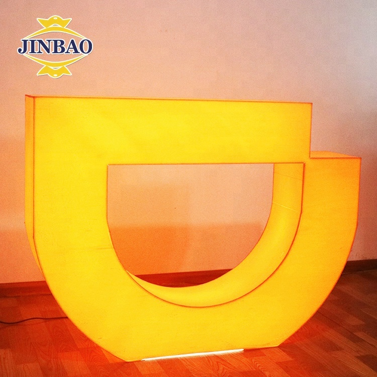 JINBAO Latest led lighting plastic table for evening <strong>show</strong>, acrylic LED waterproof led square bar table for evening performance