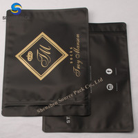 Manufacture Flexible Zipper Garment Packaging/ Heat Sealed Cloth Bag/ Recycle Cost Plastic Packaging