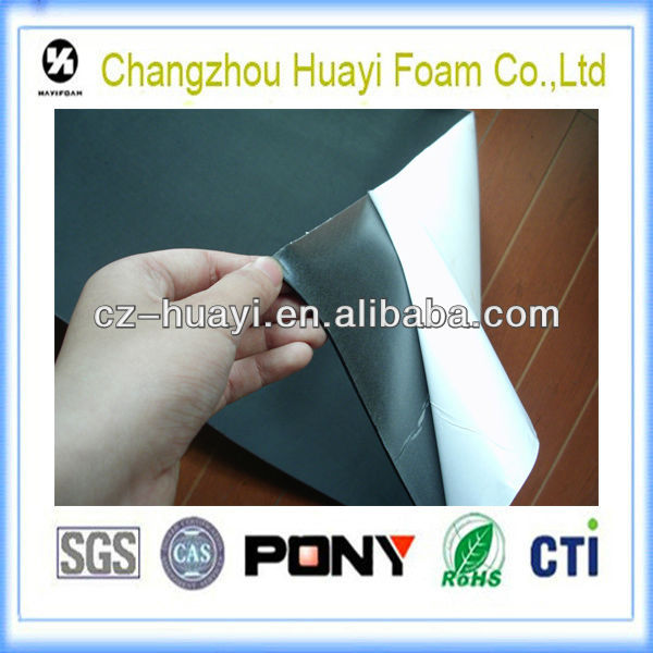 non-slip 1mm pe adhesive grinding rubber sheet roll
