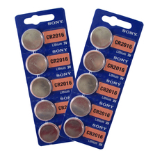 10x for Sony CR2016 ECR2016 KCR2016 BR2016 Li-ion Lithium 3V Button Cell Coin Battery Wholesale Watch Computer Motherboard Toys