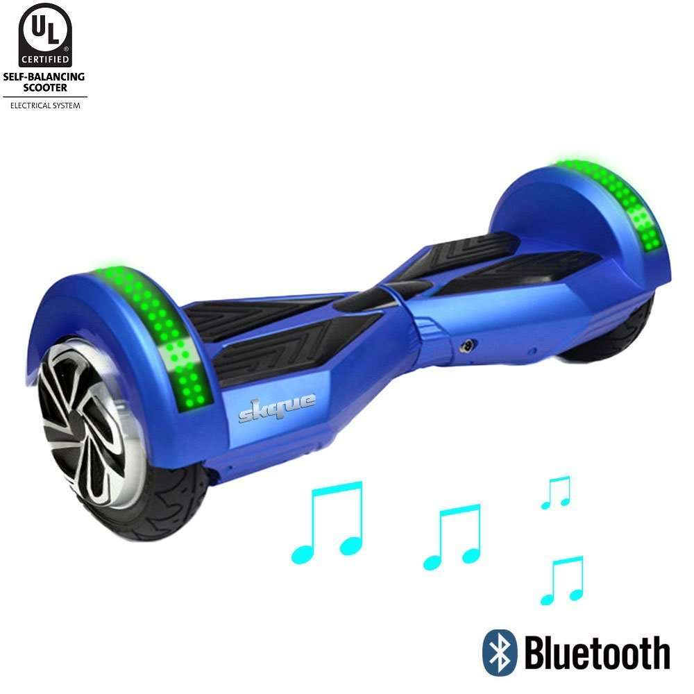 """Skque - UL2272 (MAX 220 lbs) Self Balancing Scooter / Hoverboard, Classic 6.5"""" 8"""" 10"""" Smart Two Wheel Self Balancing Electric Scooter with LED Lights"""
