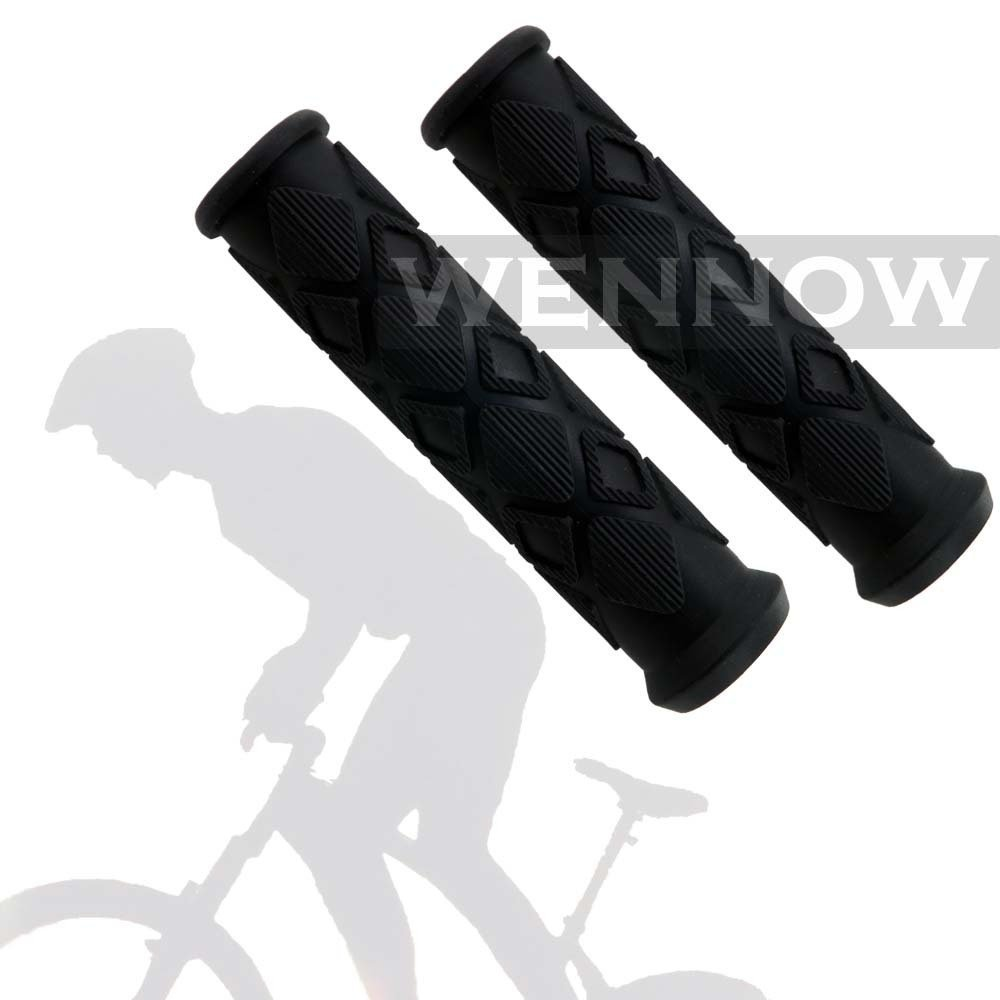 Wennow 1 Pair (2 PCS) Black Soft Nonslip Bicycle Bike Handle Bar Grip Cover