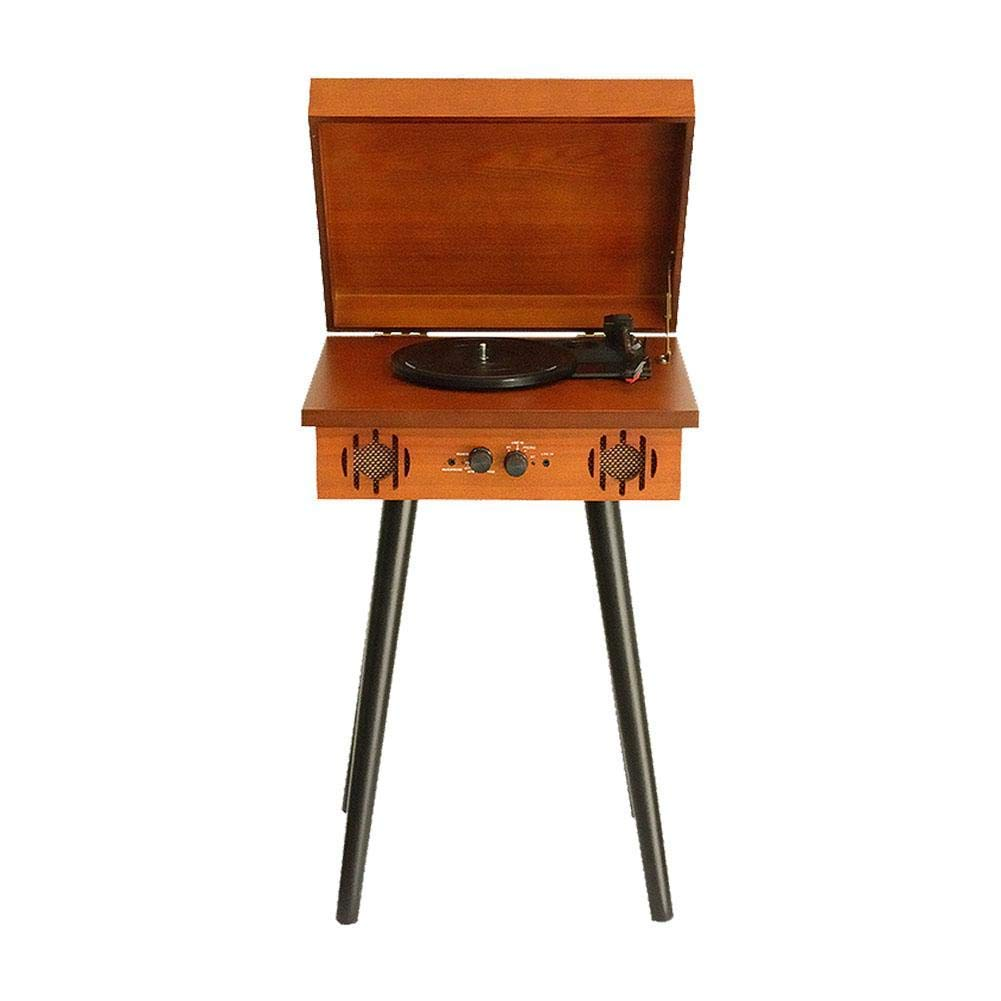 iPenty Record Player,Vintage Vinyl Record Player Solid Wooden Vintage Phonograph Creative Record Player Bluetooth Audio Vintage EU Style Ornaments