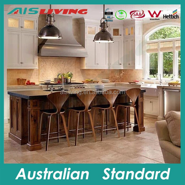 AIS-KC-181 Classic European style kitchen cabinet design, durable wood kitchen furniture, Guangdong supplier