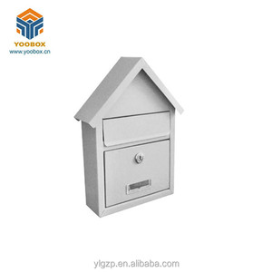 YOOBOX Large Lockable Steel Wall Mounted Outdoor Post Box
