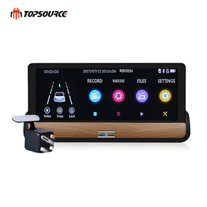 Car DVR Full HD 1080P Car Dvr Camera Auto 7 Inch Rearview Mirror Dual Lens Night Vision Rear Camera