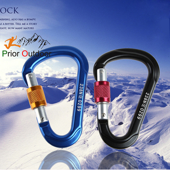 2400KGS High quality aluminum climbing carabiner safety hook CE certificate wholesale & custom