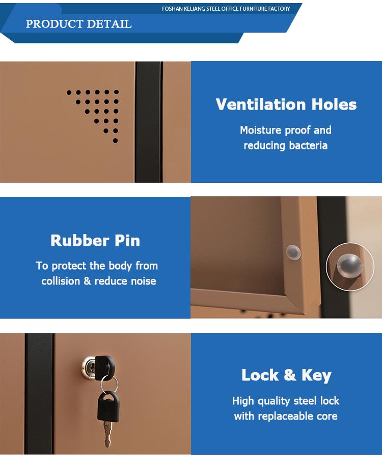 Для Дубая 6 стальных шкафчиков 12 двери 4 уровня металлический шкафчик