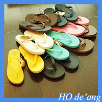 Skid summer beach sandals and slippers couple simple solid color flip-flops