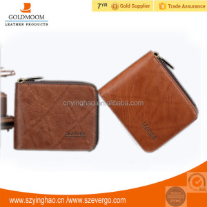 Multifunction high quality short foldable genuine leather wallet