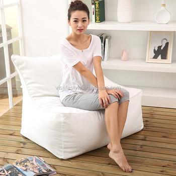 VISI Beanbag Recliner Set Lazy Fillings Chair Cover Soft Beanbag Sofa Set  Living Room Furniture Bean