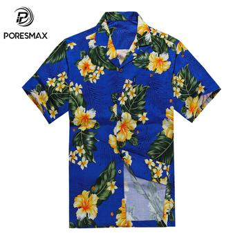 eef7c1fba Última Fancy Tropical Hawaiano Aloha Casual Camisas hawaianas para hombres  Hawaii camiseta Stock precio barato