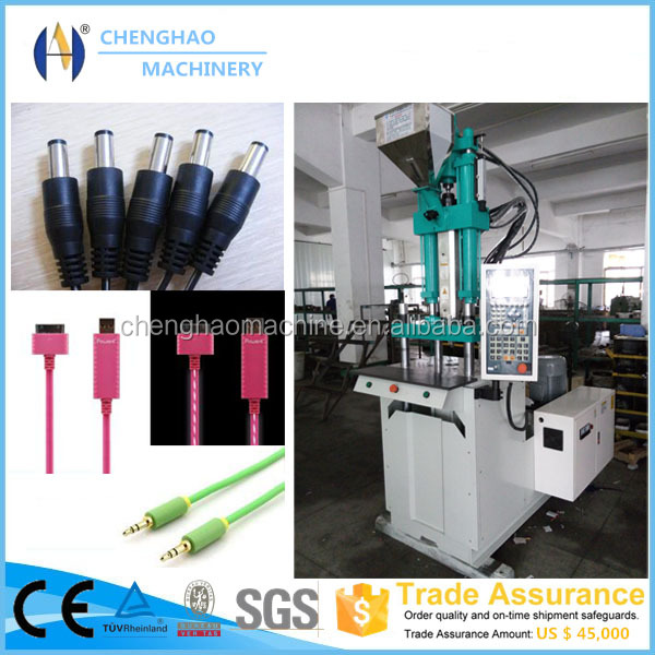 High pressure c80 new product ul power cord with plug molding machine